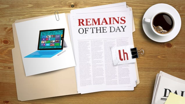Remains of the Day: Microsoft to Fix Surface Pro 3 Battery Issues With a Software Update