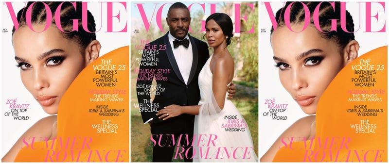 Zoe Kravitz (l and r); Idris Elba (l) and Sabrina Dhowre Elba