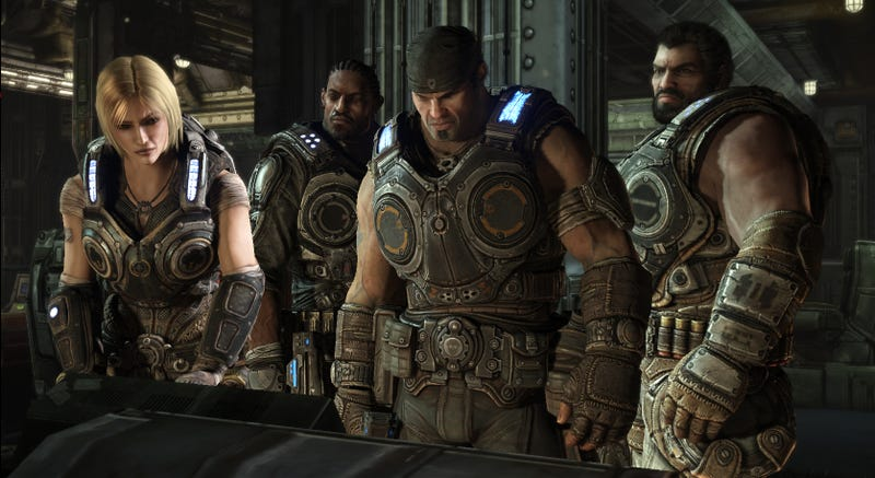 Illustration for article titled Chrome Skins are Gears of War 3's Unlockable Reward for Loyal Gears Players