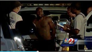 Max Gracia's Aug. 6, 2015, arrestWESH screenshot