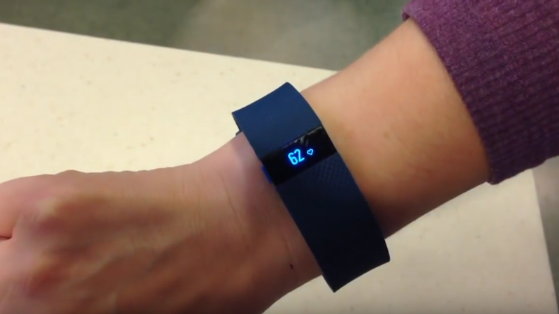 The lifesaving Fitbit. Image: EmergencyCareForYou/YouTube