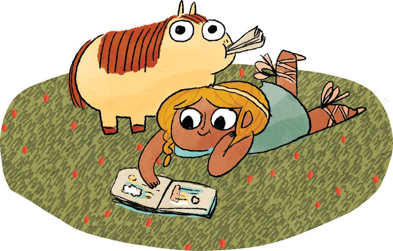 Illustration for article titled Kate Beaton's New Book Is About a Warrior Princess and Her Farting Pony