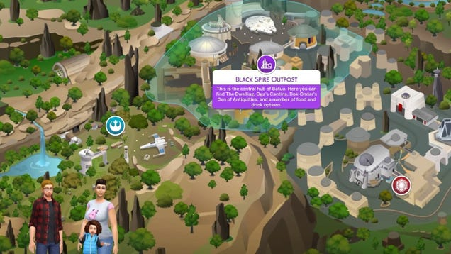 The Sims 4 Star Wars: Journey to Batuu Provided the Perfect Family Vacation
