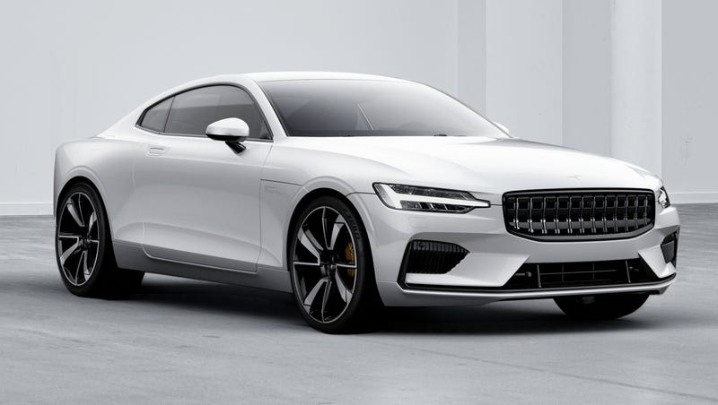 Illustration for article titled The Polestar 1 Is A Wildly Advanced 600 HP Hybrid Sports Coupe You Can't Really Own