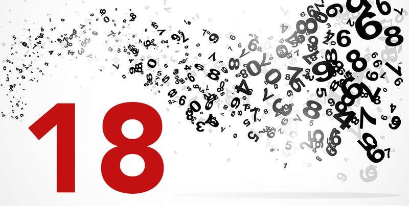 Illustration for article titled Las curiosidades y coincidencias detrás de un simple número: el 18