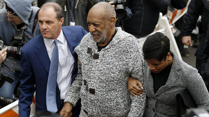 Illustration for article titled Bill Cosby Arraigned for Aggravated Assault, But Accusers Still Fear Defamation Suits