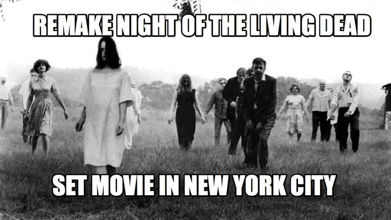 Illustration for article titled Night of the Living Dead Remake Swaps Farmhouse for NYC