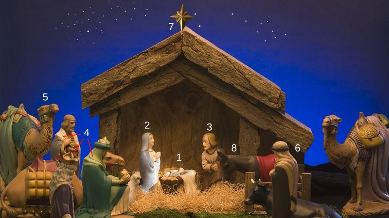 Illustration for article titled Ever Wondered What's Going On In The Nativity Scene? We'll Break It Down For You