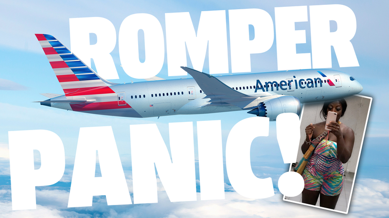 Illustration for article titled American Airlines Forces Doctor to Wrap Herself in Blanket Because They Thought Her Romper Was Inappropriate