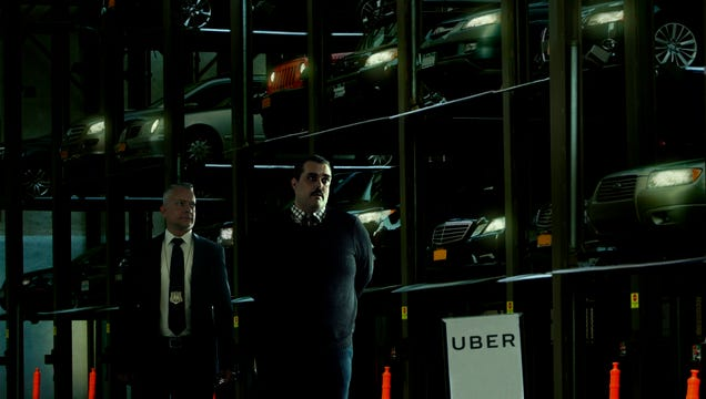 'As You Can See, They Are Quite Harmless,' Says Uber Representative Guiding Detective Through Warehouse Of Sleeping Autonomous Cars