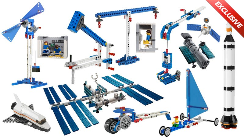 Illustration for article titled These Are the First Lego Sets Ever Launched Into Space