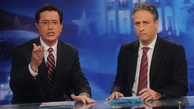 Illustration for article titled Stewart and Colbert will do their shows live on election night again