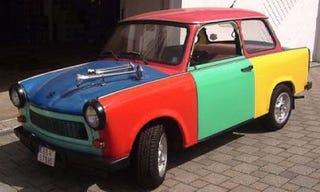 Illustration for article titled Harlequin Trabant Alert on eBay!
