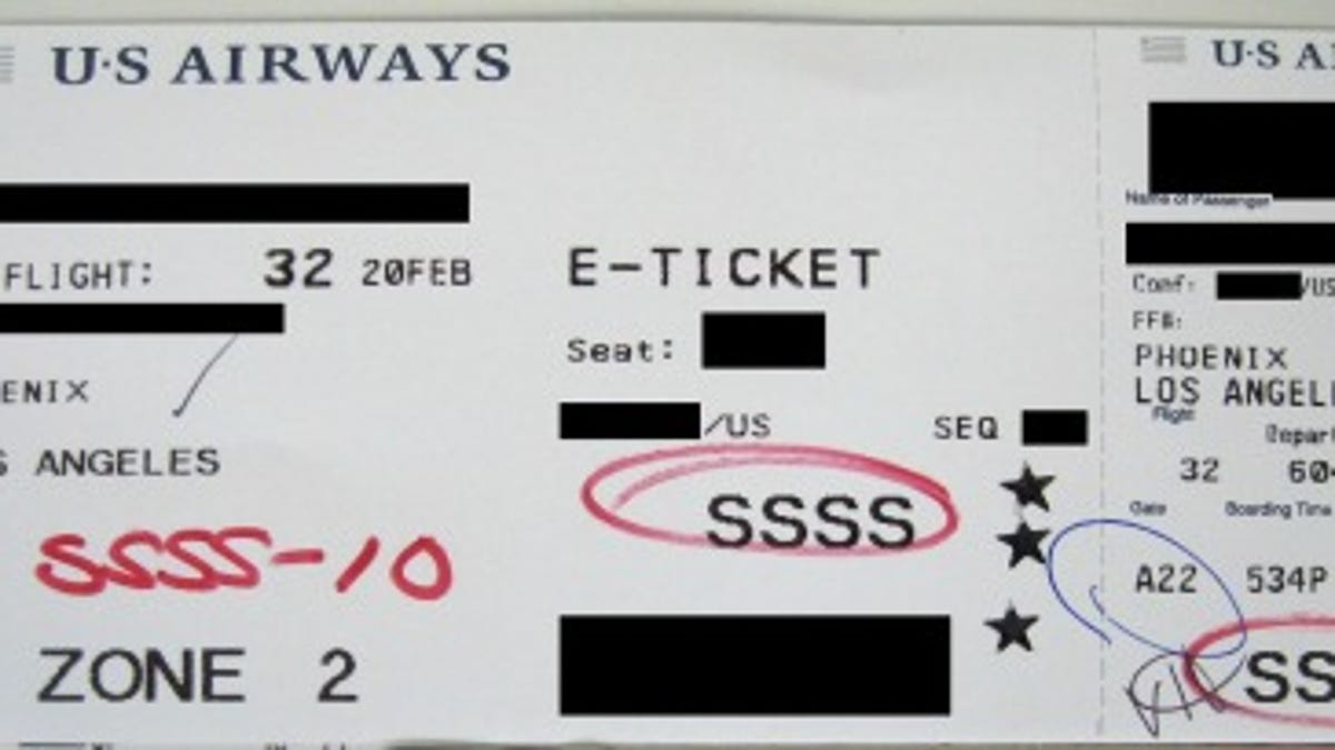 what it means when you get ssss on your boarding pass
