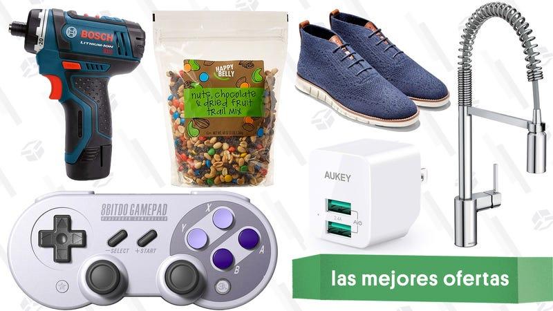 Illustration for article titled Las mejores ofertas de este jueves: Snacks de Happy Belly, calzado de Cole Haan, grifos de cocina y más