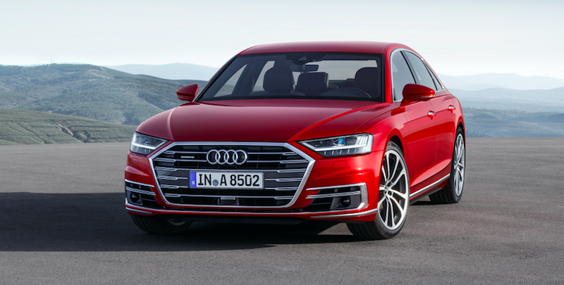 New Audi A8 suspension uses cameras to anticipate bumps