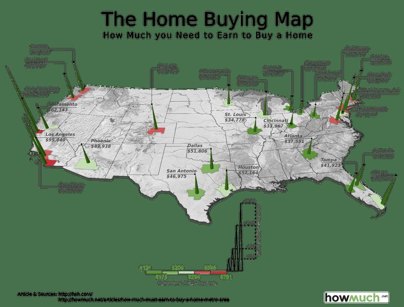 Illustration for article titled Cuánto tienes que ganar para poder comprarte una casa en las grandes ciudades de Estados Unidos