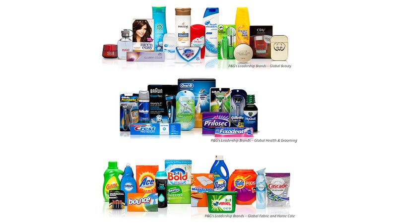Illustration for article titled Mega Conglomerate P&G to Cut Half of Its Brands