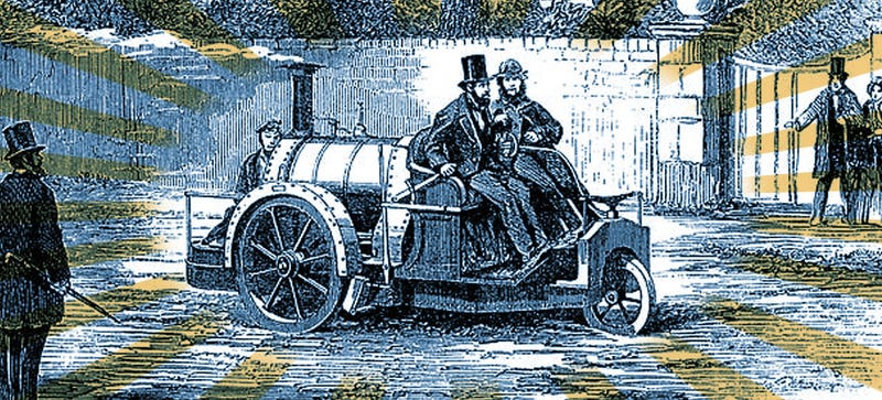 Illustration for article titled This Car Was The Very First To Be Sold, Advertised, And Road Tripped
