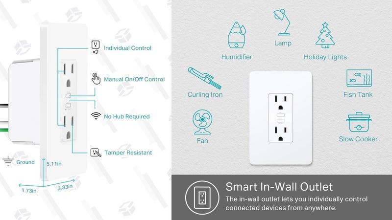 TP-Link Dual Smart Plug Outlet Receptacle | $33 | Amazon