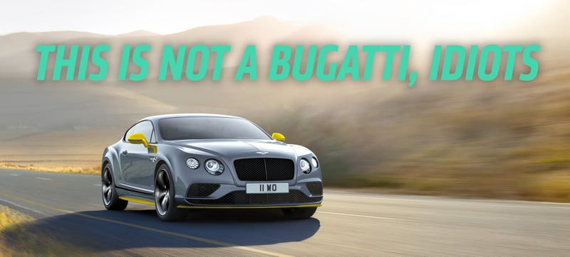 Illustration for article titled From One Bugatti Owner To All Bentley Owners: Sorry You're Poor