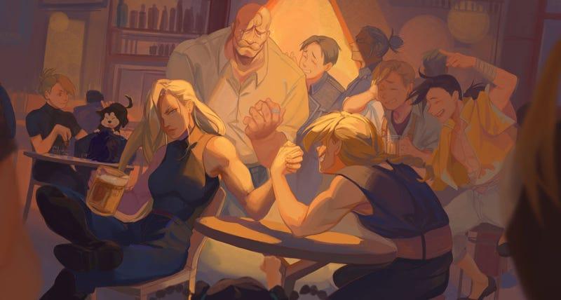 Illustration for article titled Full Metal Arm Wrestling