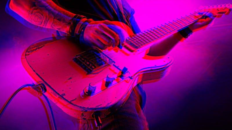 Photo: Total Guitar Magazine/Contributor/Getty Images. Graphic: Nicole Antonuccio