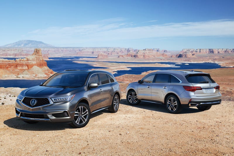 It's a shame that these 2017 MDX's are not the wonderful Isuzu Trooper based SLX that cruised mall parking lots throughout the late 1990's. (Photo credit: Acura)