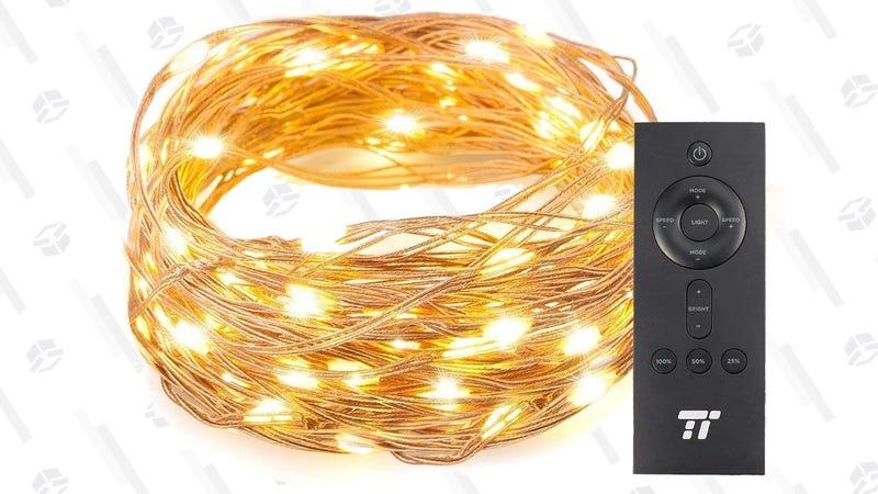 Tira de luces TaoTronics 33' 100 LEDs | $6 | Amazon | Usa el código D6BJOPRMTira de luces TaoTronics 66' 200 LEDs | $8 | Amazon | Usa el código D6BJOPRMGráfico: Shep McAllister