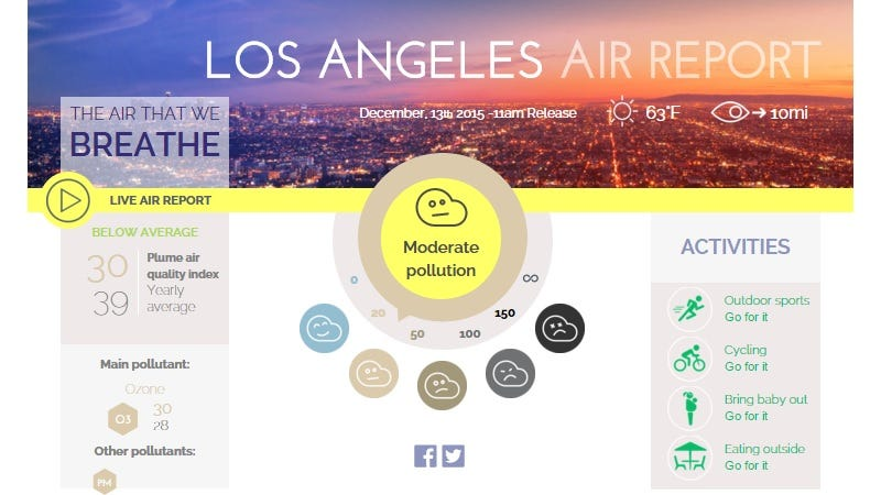 Check a City's Smog Level In Real Time With This Interactive Map
