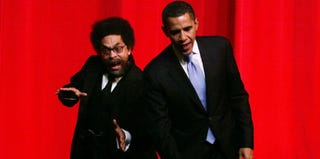 Cornel West and Barack Obama (Getty Images)