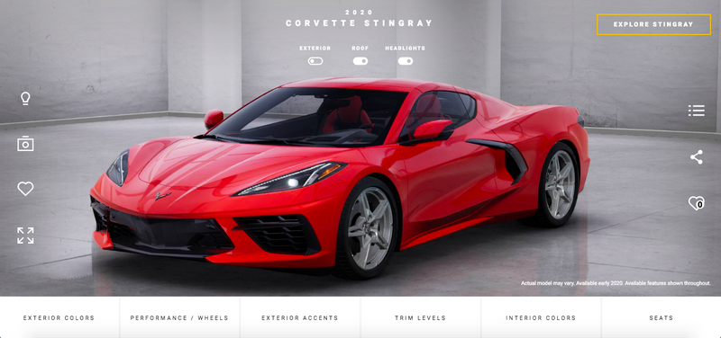 Let S Configure Your 2020 C8 Corvette Stingray