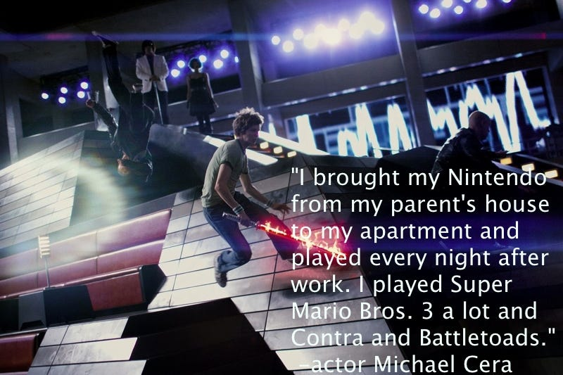 Illustration for article titled Did Scott Pilgrim Actor Play Video Games While Filming?
