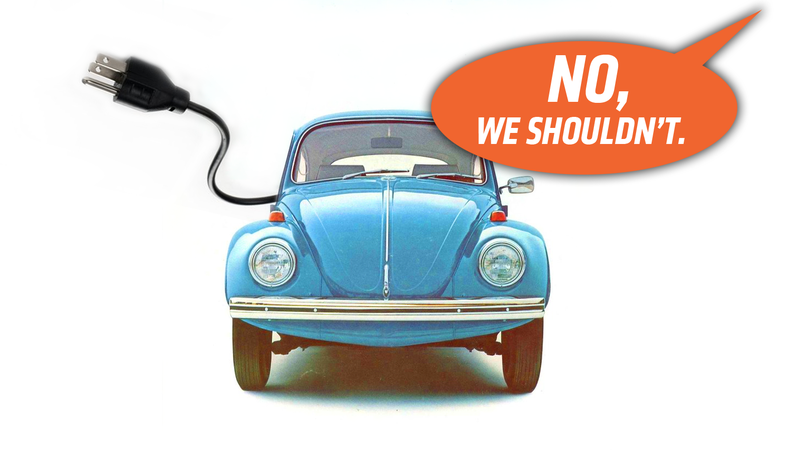Illustration for article titled Volkswagen Says It Has No Plans for an Electric Beetle Which Means It Is Either Lying or Being Silly