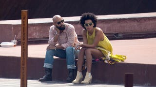 Illustration for article titled Solange Makes First Appearance Since ElevatorGate and It Looks Staged
