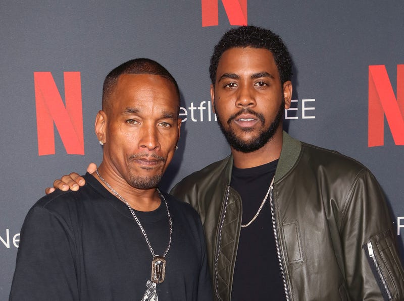 "Korey Wise, left, and Jharrel Jerome, who portrays Wise, attend Netflix's FYSEE event for ""When They See Us"" at Netflix FYSEE at Raleigh Studios on June 9, 2019, in Los Angeles."