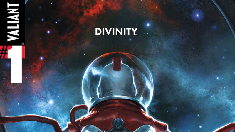 Illustration for article titled Valiant reaches for superhero publisher greatness with Divinity #1
