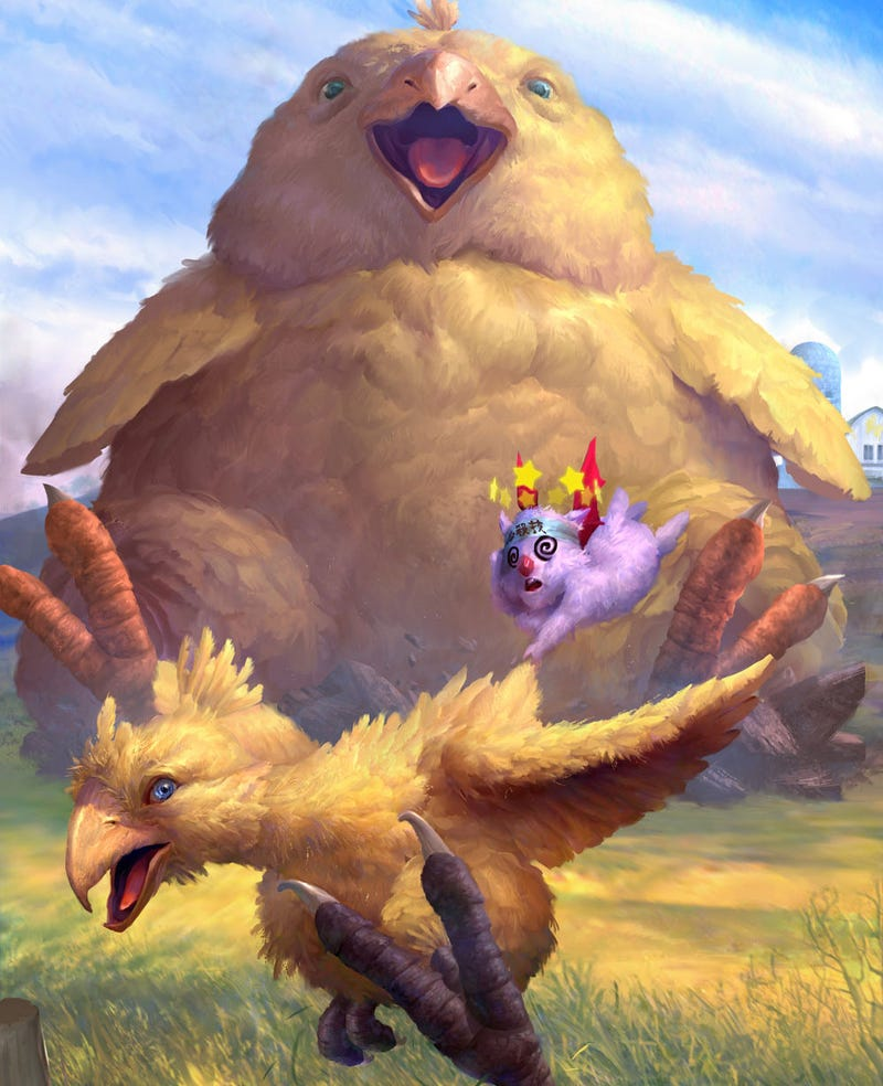 Illustration for article titled CHOCOBO HUNGERS