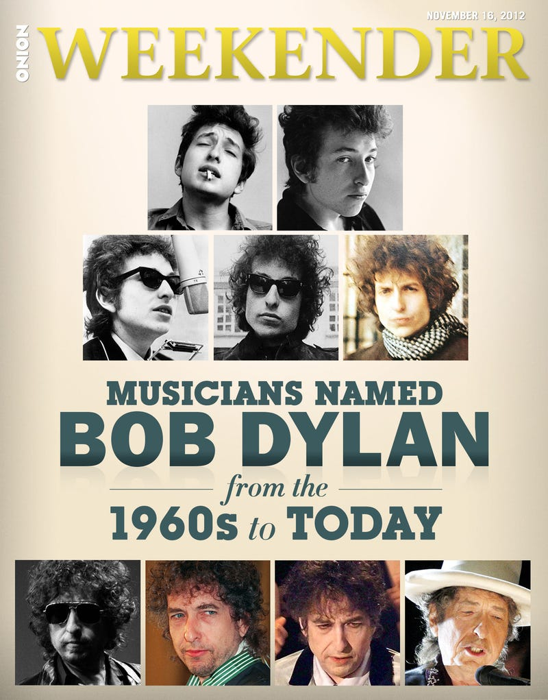 Illustration for article titled Musicians Named Bob Dylan From The 1960s To Today