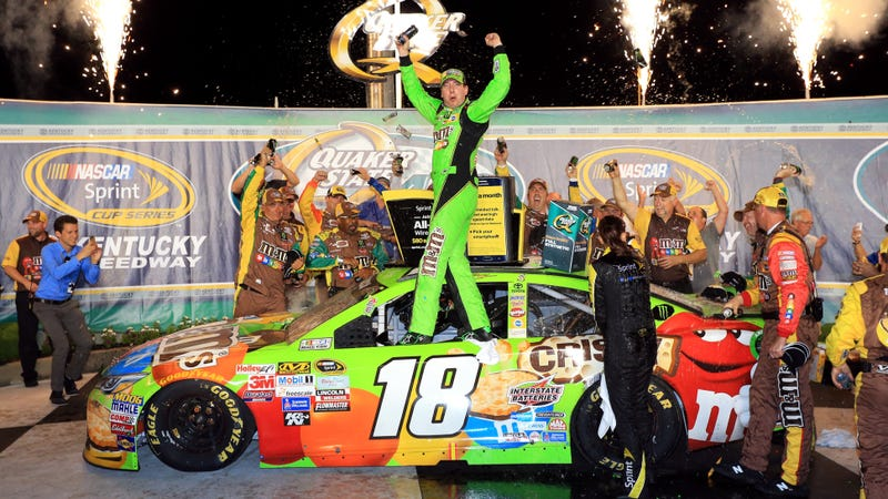 Illustration for article titled Kyle Busch's Leg Injury Doesn't Even Matter After Second Win Of Season