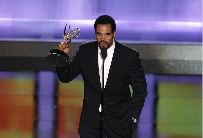 Kristoff St. John accepts the award for Outstanding Supporting Actor in a Drama Series at the 35th Annual Daytime Emmy Awards in Los Angeles on  June 20, 2008. (Matt Sayles/AP Images)