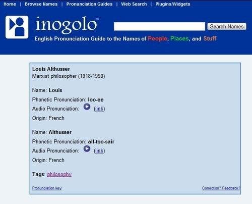 Inogolo Demonstrates Pronunciation of Difficult Proper Names