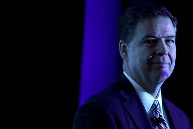 James Comey Once Tried to Avoid Donald Trump by Hiding in the Curtains