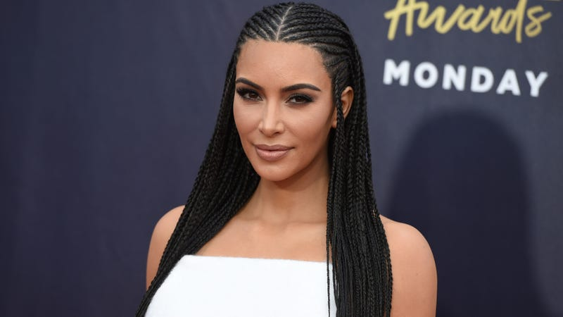 Illustration for article titled Kim Kardashian Says Her Decision to Wear Cornrows Was 'Okay,' So That's That