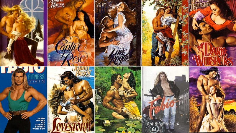 Illustration for article titled These Hilariously Outdated Fabio Book Covers Will Make Your Day