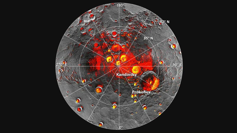 Illustration for article titled OMG Mercury has water ice and organics. But what does that really mean?