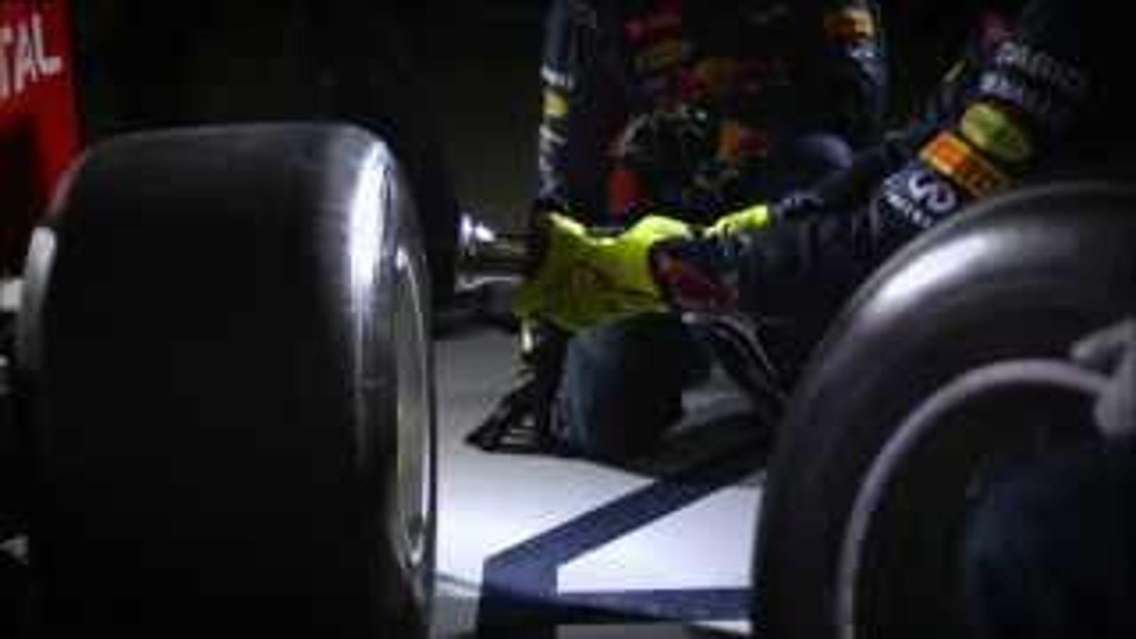 Dos segundos de parada en boxes de F1 a cámara superlenta