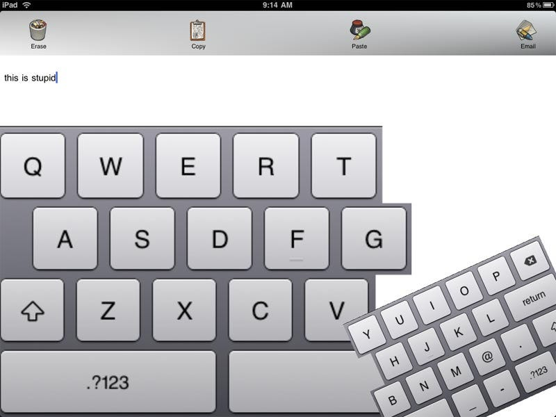 Illustration for article titled I'd Advise You Not to Buy the iPad's Keyboard Upgrade App