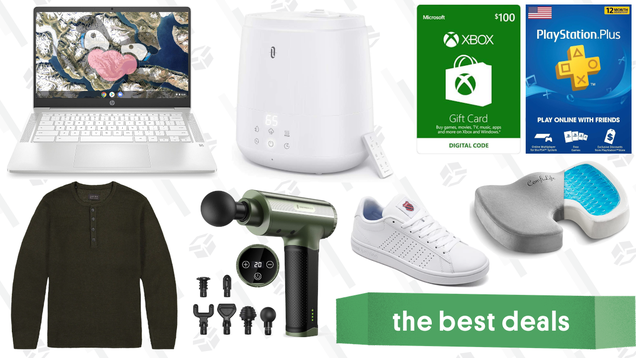 Tuesday s Best Deals: Xbox Gift Cards, TaoTronics Massage Gun, HP Chromebook 14, JACHS NY Sale, PlayStation Plus, ComfiLife Seat Cushion, K-Swiss Sneakers, and More