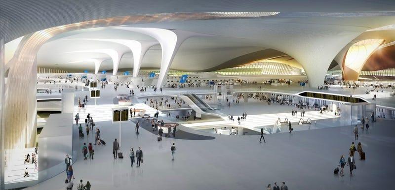 Illustration for article titled Pekín estrenará la segunda terminal de aeropuerto más grande del mundo